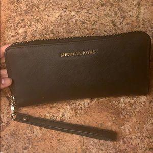 Michael Kors Black Wallet with wristlet